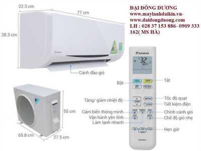 Máy lạnh treo tường Daikin ftks35gvmv/rks35gvmv- 1.5hp- Ưu điểm vượt trội - Giá sỉ tại Npp