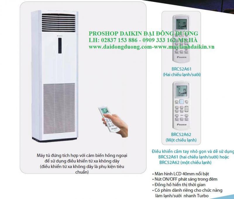 Máy lạnh tủ đứng Daikin fva125amvm/rzf125cvm-inverter – R32 –5hp- Npp trực tiếp