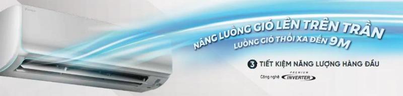 Máy lạnh Daikin Inverter 1.5HP FTKC35UAVMV loại 1 chiều Gas R32 – Thiết kế Coanda cao cấp