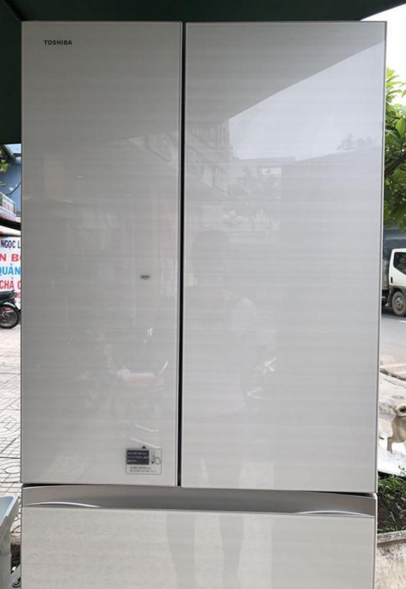 Tủ lạnh nội địa TOSHIBA GR-K460FD 462L mặt gương.