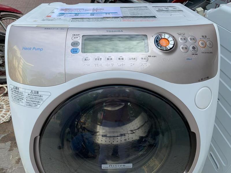 Máy giặt nội địa TOSHIBA TW-Z9100R đời 2011 giặt 9kg sấy 6kg sấy block