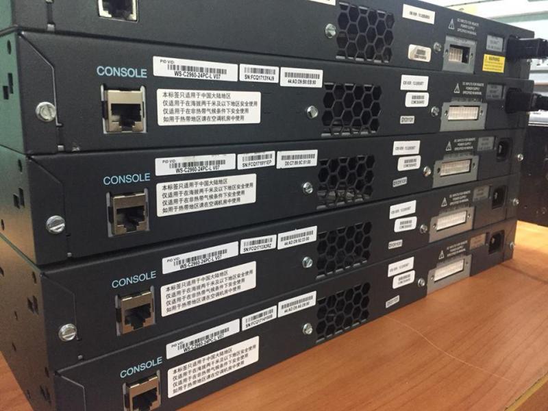 Cho thuê thiết bị Cisco đã qua sử dụng + BH 12 Tháng + VAT