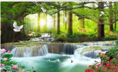 tranh phong cảnh thiên nhiên - gạch tranh 3d
