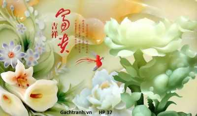 tranh gạch 3d hoa sứ ngọc