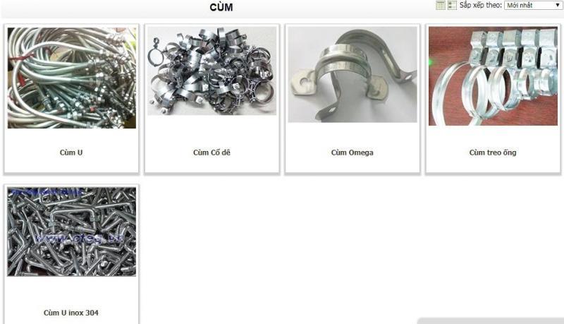 Tất tần tật sản phẩm phụ kiện liên kết công ty Cường Thịnh