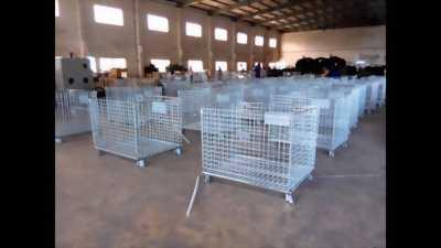 Pallet lưới thép,pallet lưới có bánh xe trữ hàng