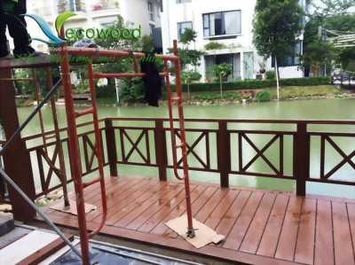 Sàn gỗ nhựa sử dụng cho ngoại thất sân vườn