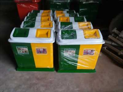 buôn thùng rác 2 ngăn khu vực miền trung tây nguyên