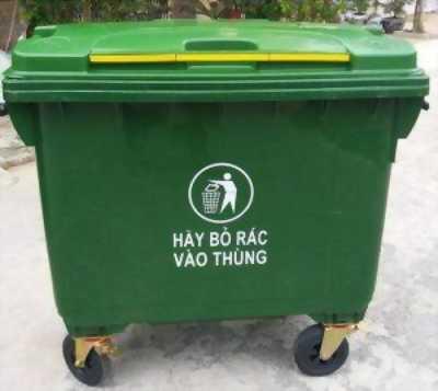 Gía thùng rác nhựa 660L tại Tp. HCM.