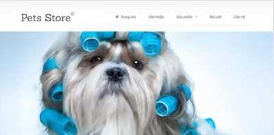 Thiết kế web buôn bán thú cưng