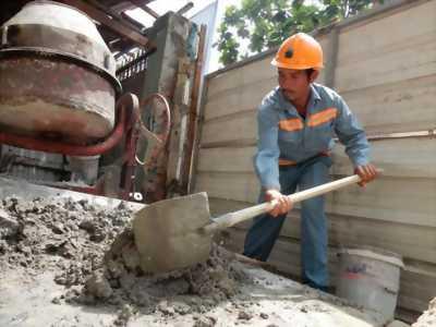 Cần tuyển công nhân phụ hồ bê tông xây dựng 15 triệu/ tháng
