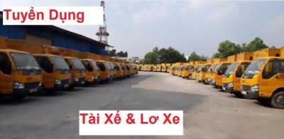 Tuyển tài xế và lơ xe tải lương 15tr/ tháng