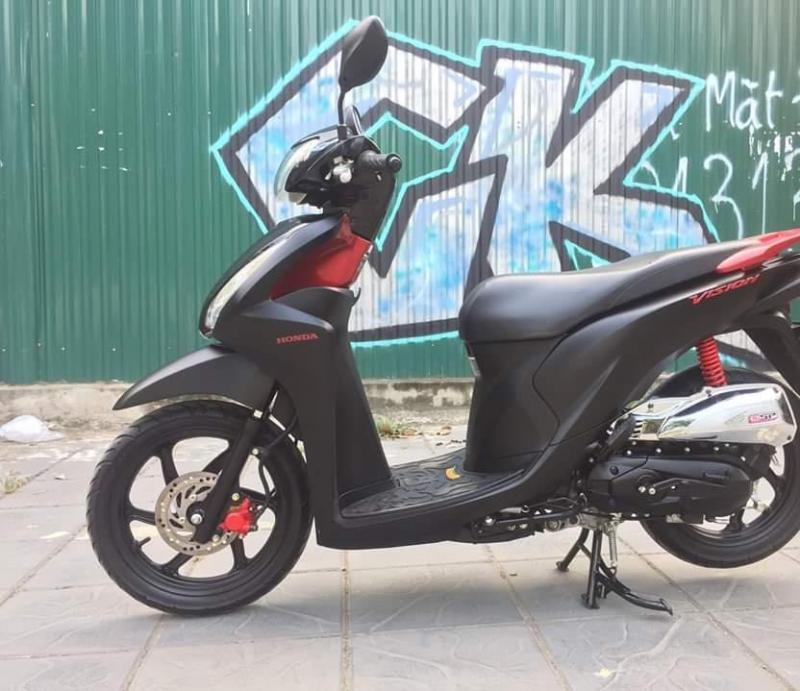 Vision110cc Màu Đen Đỏ Nhập Khẩu Giá Rẻ Mới 100%