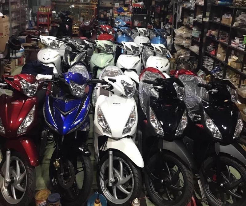 Cửa hàng chuyên bán Exciter, Raider, Liberty, SH, Vespa, Air Blade, Yaz, Satria, Su Xipo.