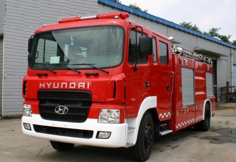 Đại lý bán Xe cứu hỏa Hyundai HD170 5m3 đóng mới