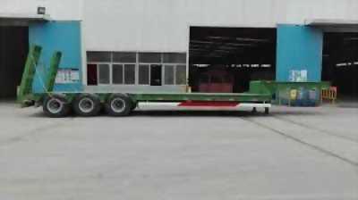 Rơmooc Lùn Doosung Hàn Quốc chở xe, máy công trình