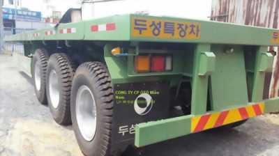 Đại lý Sàn phẳng tải(chở container),3 trục,20 feet,32 tấn,giá gốc,xe có sẵn,giao ngay.