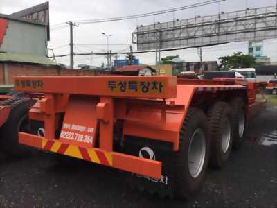 Bán rơ mooc  Xương Doosung(chở container),3 trục,40 Feet,33.5 tấn, giá rẻ,xe có sẵn.