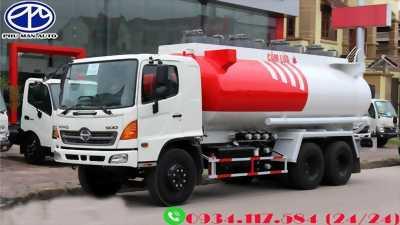 Đại lý bán xe bồn chở xăng dầu – xe bồn xăng dầu 18 khối – Hino FM8JNSA