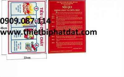 Nội quy tiêu lệnh phòng cháy chữa cháy - 0909.087.114