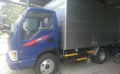 Xe tải JAC 2T4, thùng inox màu xanh 2017