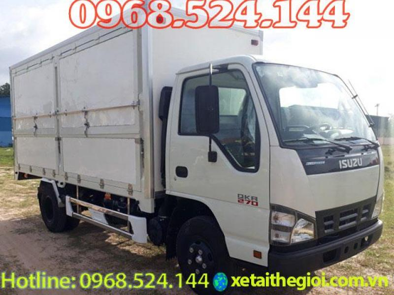 Đại lý bán xe tải isuzu 1T9 thùng kín   isuzu qkr270 1,9tan   isuzu qkr270 1 tấn 9 thùng kín , ưu đãi lớn dịp tết 2019