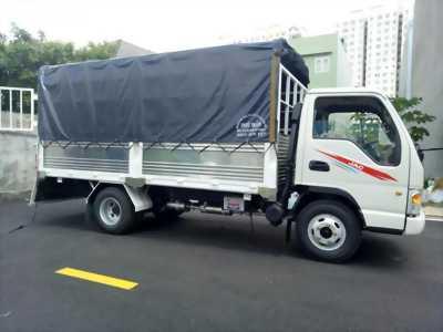 xe tải JAC 2,4T thùng 4m3 máy ISUZU mới 2019, trả trước 55tr nhận xe