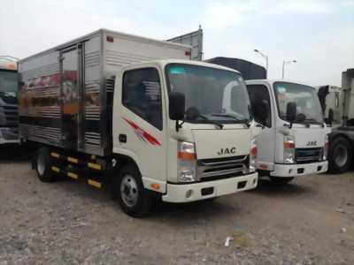 Xe tải JAC 3.45 tấn cabin vuông ISUZU Thùng Mui Kín