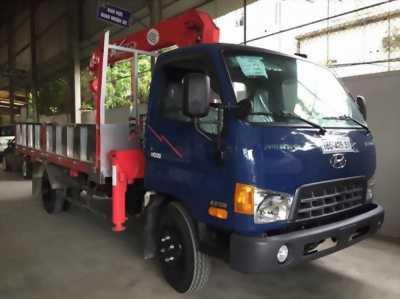 Xe tải hyundai hd99 có cần cẩu 3 tấn 3 khúc giá rẻ