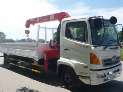 Xe tải 5 tấn hino fc gắn cẩu unic 340 3 tấn
