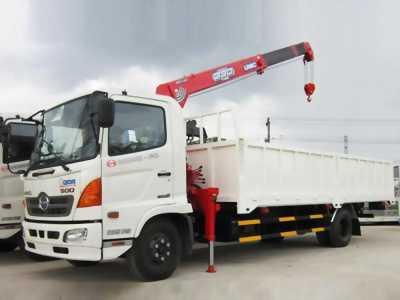 Xe tải hino fc 5 tấn có cần cẩu 3 tấn 4 khúc