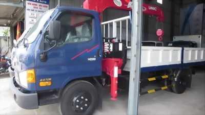 Xe hyundai hd99 tải 5 tấn gắn cẩu unic 3 tấn