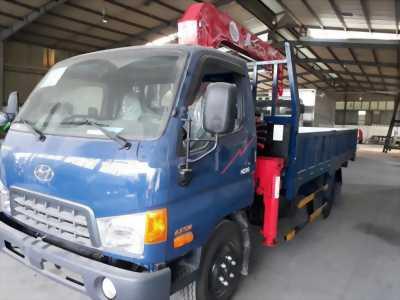 Xe tải hyundai hd99 tải trọng 5,5 tấn có cần cẩu 3 tấn 4 khúc