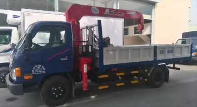 Xe tải hyundai hd99 tải trọng 5,5 tấn có cần cẩu 3 tấn