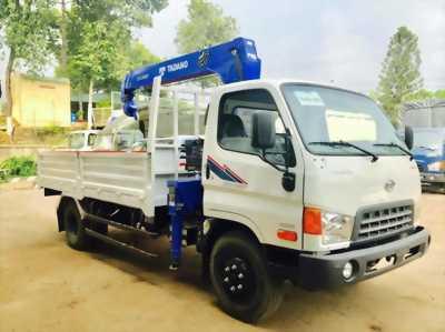 Xe hyundai HD800 tải 6,6 tấn gắn cần cẩu 3 tấn