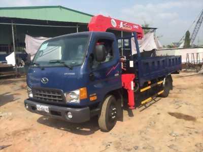 Xe tải hyundai HD99 tải 5,4 tấn gắn cần cẩu 3 tấn