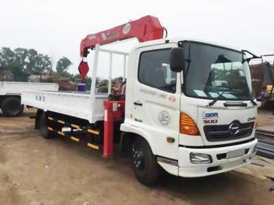 Bán xe tải hino FC 4,8 tấn gắn cần 3 tấn unic mới 100%