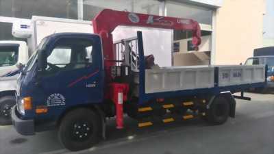 Xe hyundai 5,5 tấn gắn cẩu unic bãi nhập từ nhật bản