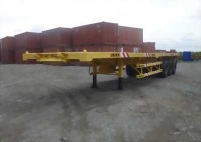 Bán doosung rơ móoc xương chở container 45 feet, 3 trục
