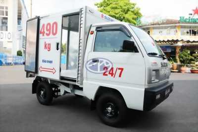 Xe tải Suzuki 490kg Thùng kín – Cửa trượt Đời mới 2018