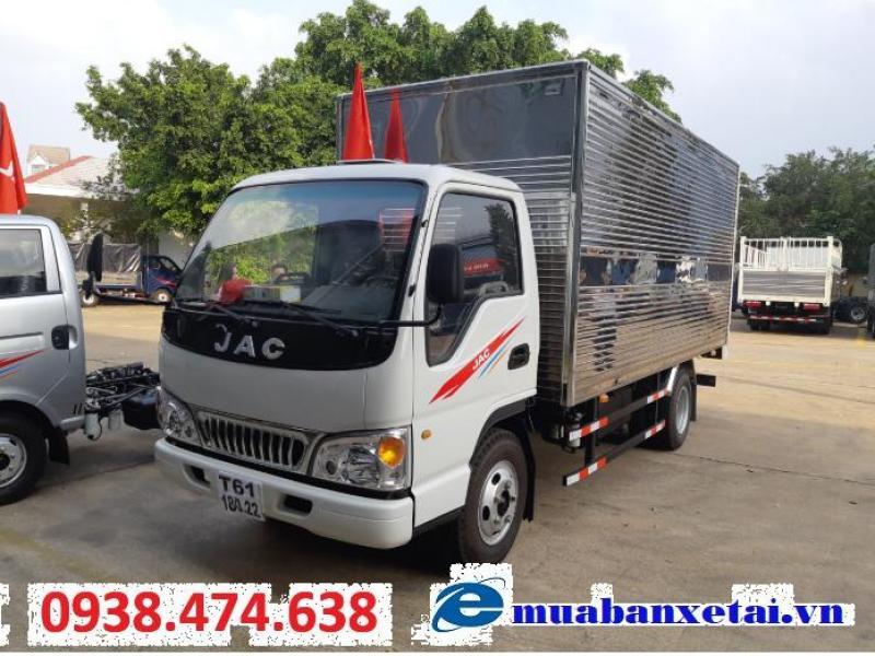 xe tải Jac 2.4 tấn động cơ Isuzu thùng dài 4m3