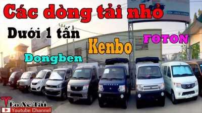 Xe tải dưới 1 tấn, Nên mua xe nào? – Giá chi tiết. TXT – Seri tải nhỏ, Dongben 870kg, foton 870kg, kenbo 870kg