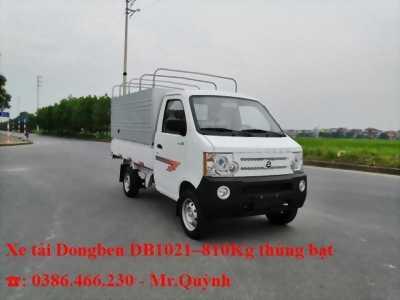 Bán Xe Tải Nhẹ Dongben 810kg Thùng Bạt - Gía Tốt - Hỗ Trợ Vay - Lãi Suất Thấp