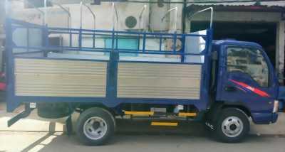 JAC 2T4 thùng bạt mới, thùng dài 4m3