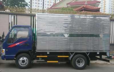 Xe tải JAC thùng inox 3m7, xe tải trọng 2t4
