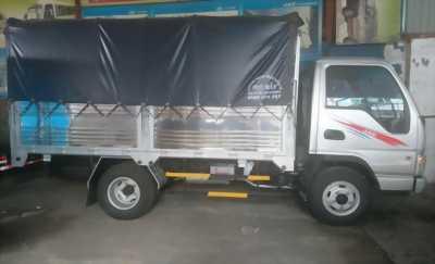 Xe tải 2T5 thùng inox 3m7, JAC logo vàng 2017