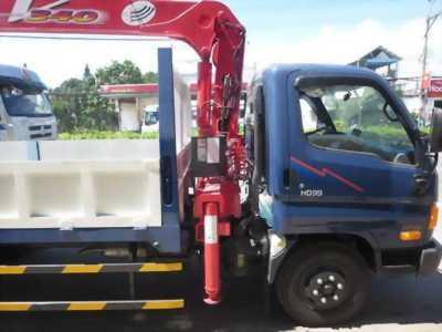 Xe tải hyundai hd99 gắn cẩu unic 3 tấn giá tốt