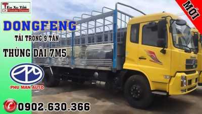 Xe Tải Dongfeng B180 9 tấn Thùng 7m5 Mui Bạt. Model 2019 máy Cummin