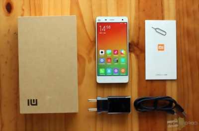 Xiaomi Mi4 Ram3g(trắng) mới 99%fullbox BH 12 tháng