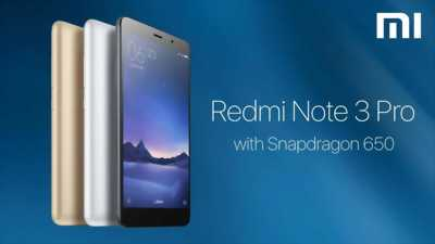 Xiaomi Redmi Note 3 pro gam 2 chip snapdragon 650